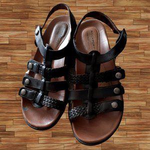 Rockport Black Low-Heel Sandals 8